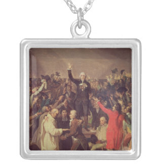 The Tennis Court Oath Silver Plated Necklace