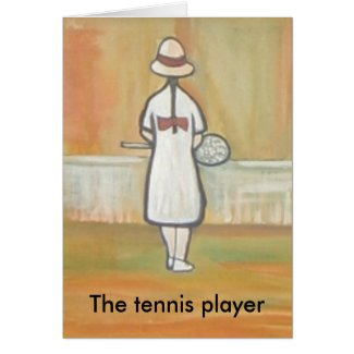THE TENNIS PLAYER card