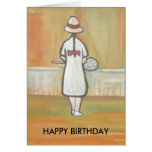 THE TENNIS PLAYER GREETING CARD