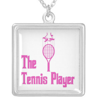 The Tennis Player Silver Plated Necklace