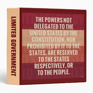 The Tenth Amendment 3 Ring Binder