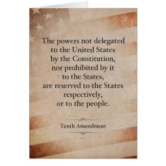 The Tenth Amendment Card