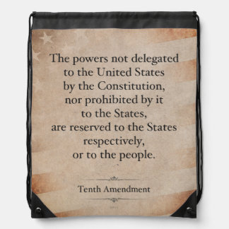 The Tenth Amendment Drawstring Bag