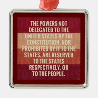 The Tenth Amendment Metal Ornament