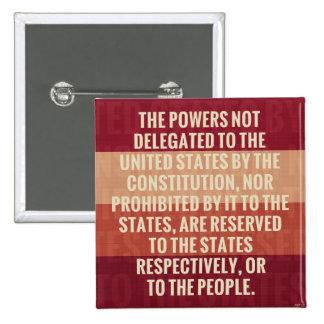 The Tenth Amendment Pinback Button