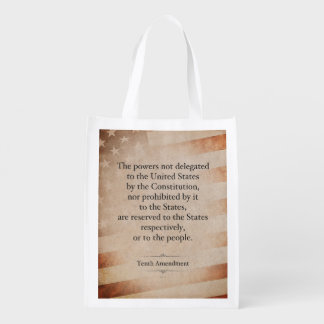 The Tenth Amendment Reusable Grocery Bag