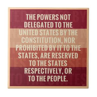 The Tenth Amendment Tile