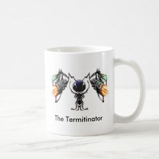 The Termitinator Classic White Coffee Mug