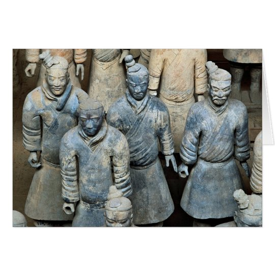 The Terra-cotta Warriors, Xi'an, China Card