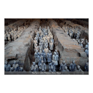The Terra-cotta Warriors, Xi'an, China Poster