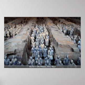 The Terra-cotta Warriors, Xi'an, China Poster