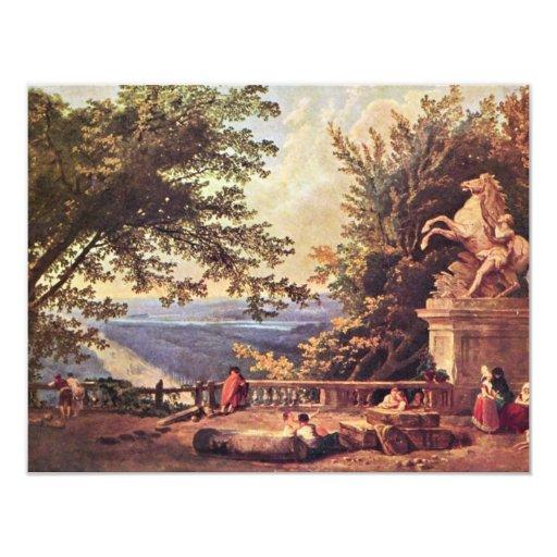 The Terrace At Marly By Robert Hubert Custom Invites