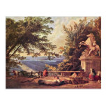 The Terrace At Marly By Robert Hubert Post Cards