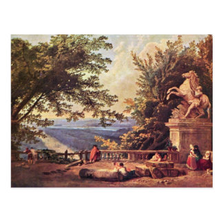 The Terrace At Marly By Robert Hubert Postcard