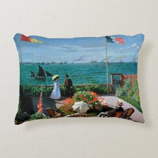 The Terrace at Sainte-Adresse, 1867 Decorative Pillow