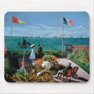 The Terrace at Sainte-Adresse, 1867 Mouse Pad