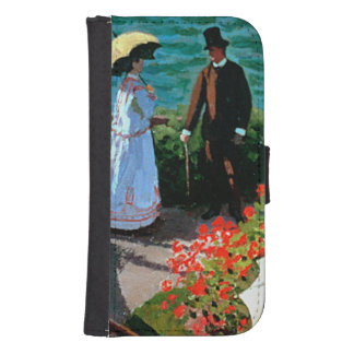 The Terrace at Sainte-Adresse, 1867 Samsung S4 Wallet Case