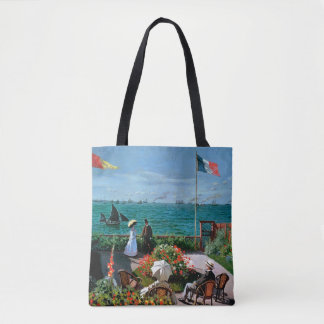 The Terrace at Sainte-Adresse, 1867 Tote Bag