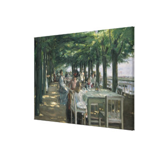 The Terrace at the Restaurant Canvas Print