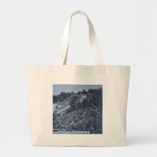The Terrace in Central Park NYC Vintage 1900 Large Tote Bag