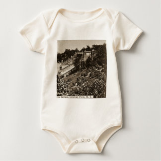 The Terrace in Central Park NYC Vintage 1900 Baby Bodysuit