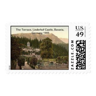 The Terrace, Linderhof Castle, Bavaria, Germany Postage