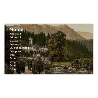 The terrace, Linderhof Castle, Upper Bavaria, Germ Business Card Template