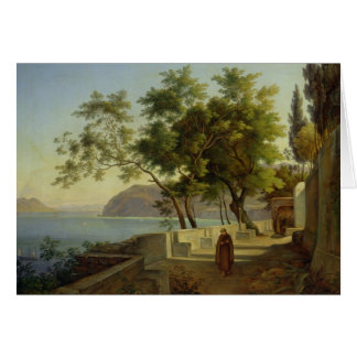 The Terrace of the Capucins in Sorrento, 1828 Card