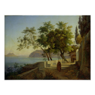 The Terrace of the Capucins in Sorrento, 1828 Poster