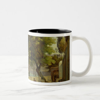 The Terrace of the Capucins in Sorrento, 1828 Two-Tone Coffee Mug