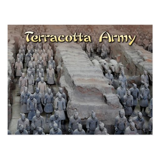 The Terracotta Army of the first Emperor of China Postcard