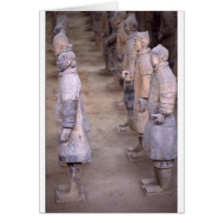 The Terracotta Army Warriors at Xian China Greeting Card