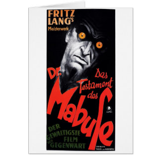 The Testament of Dr. Mabuse Greeting Card