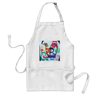 The Teth Letter - hebrew alphabet Adult Apron