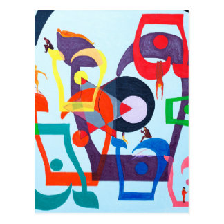 The Teth Letter - hebrew alphabet Postcard