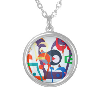 The Teth Letter - hebrew alphabet Round Pendant Necklace