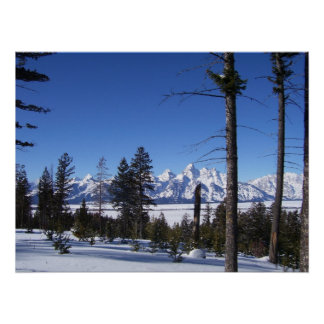 The Tetons in February Poster