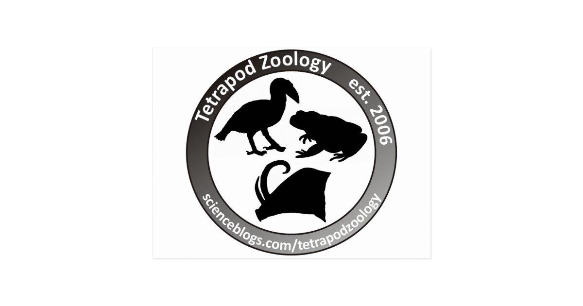 THE TETRAPOD ZOOLOGY LOGO POSTCARD | Zazzle