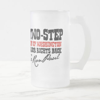 THE TEXAS 2 STEP FROSTED GLASS BEER MUG