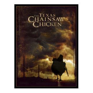 THE TEXAS CHAINSAW CHICKEN POSTCARD