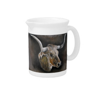 The Texas Longhorn Beverage Pitcher