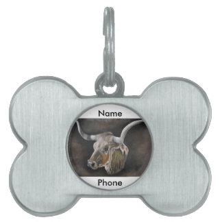 The Texas Longhorn Pet Tag