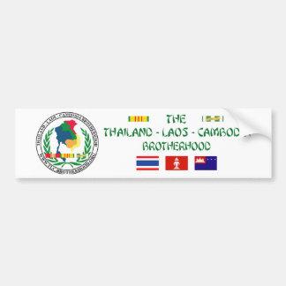 The Thailand-Laos-Cambodia Brotherhood Car Bumper Sticker