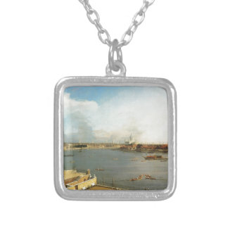 The Thames and the City of London from Richmond Square Pendant Necklace