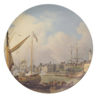 The Thames and the Tower of London supposedly on t Plate