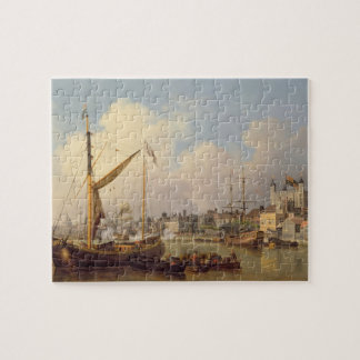 The Thames and the Tower of London supposedly on t Jigsaw Puzzle