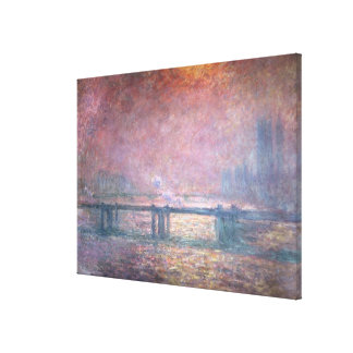 The Thames at Charing Cross, 1903 Canvas Prints