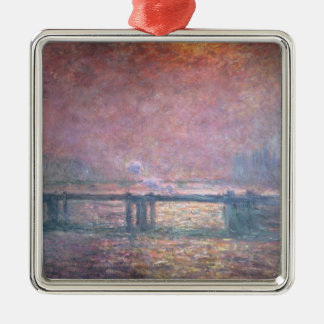 The Thames at Charing Cross, 1903 Metal Ornament