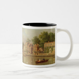 The Thames at Twickenham, c.1760 (oil on canvas) Two-Tone Coffee Mug