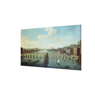 The Thames at Westminster Canvas Print